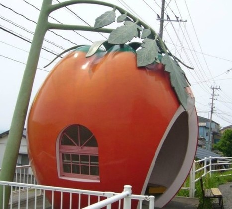 Amazing giant fruit-shaped bus stops in Japan | Amazing Buzz | Scoop.it