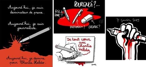 Charlie Hebdo : les hommages en dessins aux dessinateurs tués | TICE & FLE | Scoop.it