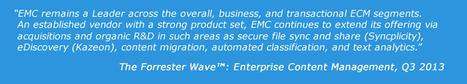 Forrester Names EMC Documentum a Leader in Enterprise Content Management – EMC | ECM : Revue de Presse par AmeXio | Scoop.it