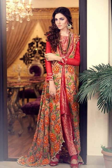 Kanav Brides Maides Gowns For Girls | Style | Strawberry Chiffon RTW LZahra Ahmad Fall Winter Exclusive Collection 2013atest Collection 2013 For Ladies. | Scoop.it