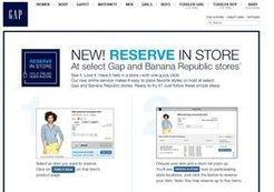 "Gap étend son offre cross-canal avec le service ""Reserve in store"" 