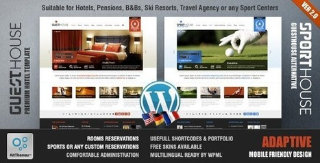 20 Best Responsive Travel & Hotel WordPress Themes | AWD | Web Designs | Scoop.it