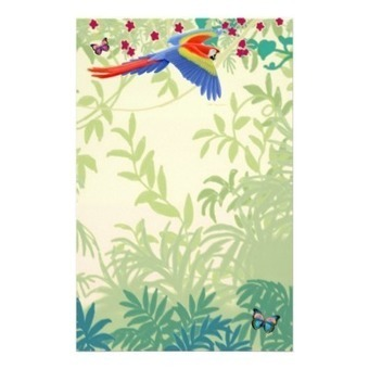 Flying Scarlet Macaw in Rainforest Stationery from Zazzle.com | Artistic Stationery | Scoop.it