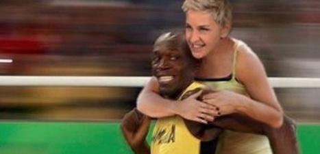 Ellen DeGeneres taxée de racisme pour un montage d'elle sur le dos d'Usain Bolt | Crise de com' | Scoop.it