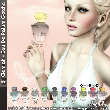 New Release: [S] Elemiah - Eau de Parfum Gatcha | Teleport Hub - Second Life Freebies | Second Life Freebies | Scoop.it