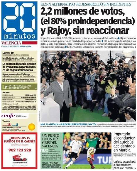 Periódico 20 Minutos - Valencia (España). Periódicos de España. Toda la prensa de hoy. Kiosko.net | El diseño de un nuevo estado de Europa | Scoop.it