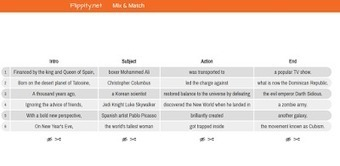 Try Flippity's Mix & Match Template to Generate Random Story Starters | Keeping up with Ed Tech | Scoop.it