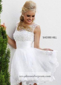 Short White Beaded Sherri Hill 4302 Prom Dresses [short white prom dresses] - $180.00 : Cheap Sequin Prom Dresses2014,Online Tailored Prom Dresses Shop,Homecoming Dresses Cheap | sherri hill prom dresses 2014 | Scoop.it