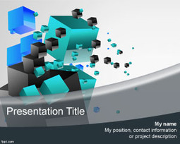 3d Cubes PowerPoint Template | Free Powerpoint Templates | Video Game Violence | Scoop.it