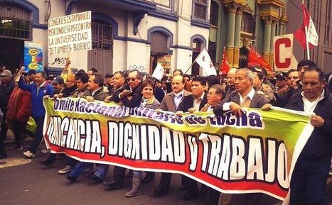 FOTOS: Así se desarrolló la marcha de la CGTP y #Tomalacalle - Perú21   Currículo   Scoop.it
