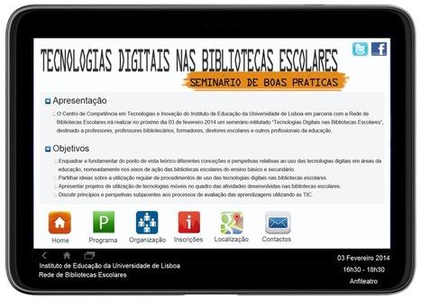 Seminário de Boas Práticas: Tecnologias Digitais nas Bibliotecas Escolares   Pelas bibliotecas escolares   Scoop.it