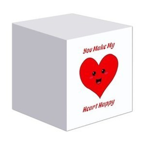 Happy Heart Sticky Notes> You Make My Heart Happy> Flamin Graphic Designs | CafePress Designs Via Flamin Cat Designs And Friends | Scoop.it