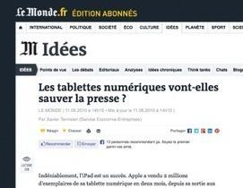 Tablettes : un atout pour la presse ? - Arrêt sur images   Library & Information Science   Scoop.it