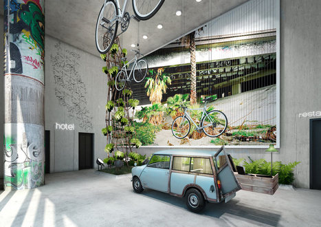 25hours Hotel Bikini Berlin - Design Milk | Interiosity | Scoop.it