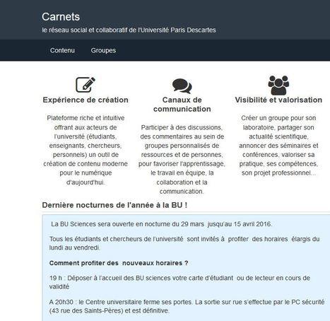 Carnets Université Paris descartes | transmedia-et-education | Scoop.it