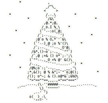 merry christmas (2008 edition) | ASCII Art | Scoop.it