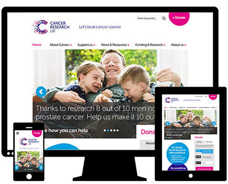 Cancer Research UK has unveiled its new, fully responsive homepage – designed and built by Redweb. | Fresh Marketing News | Scoop.it