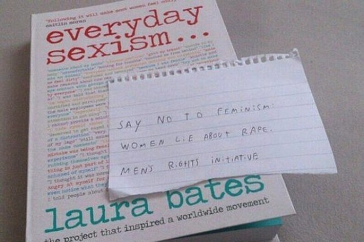 """Men's Rights Activists Are Leaving Anti-Feminism Notes In """"Everyday Sexism"""" Books 