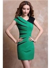 $ 55.99 Elegent V-neck Sleeveless Bodycon Little Party Dress   Fashion women   Scoop.it