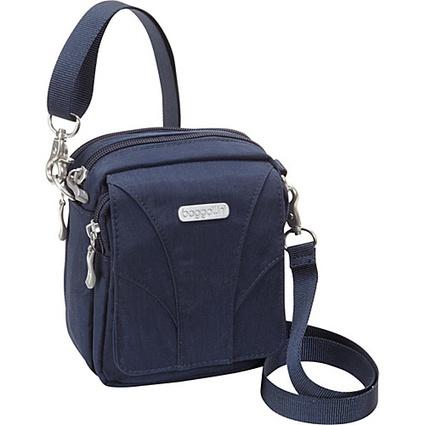 baggallini Globetrotter Mini Navy/Leaf Green - baggallini Fabric Handbags | I love designer handbags | Scoop.it