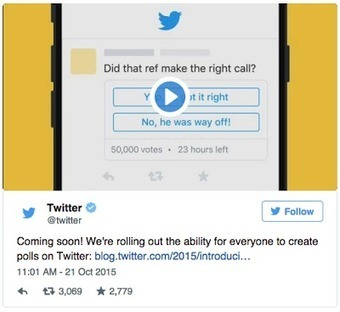 A New Tool from Twitter to Create and Share Polls ~ Educational Technology and Mobile Learning | PD & Articles | Scoop.it