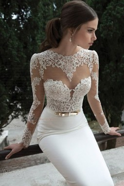 Cheap Sweep Train Lace Trumpet/Mermaid Wedding Dresses Sale at Amydress.co.uk | amydress | Scoop.it