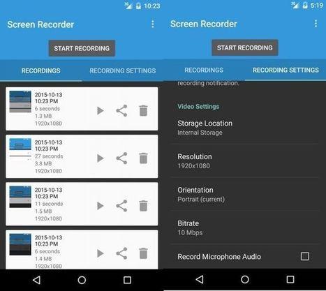 Comment enregistrer l'écran de son smartphone ou de sa tablette ? | Ressources pédagogiques, former par le numérique | Scoop.it
