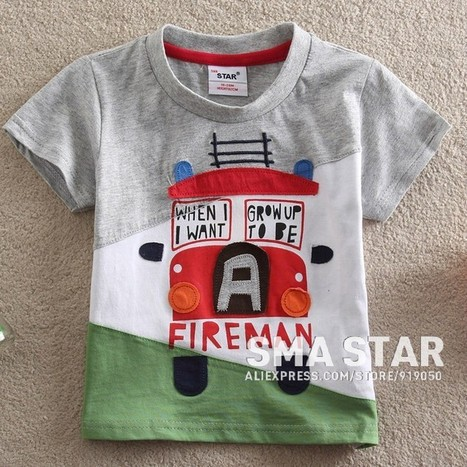 Cute Baby Boy Short Sleeve Gray Orange T Shirt | Clothing at SMA-STAR | Scoop.it