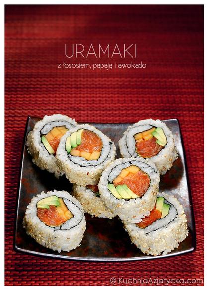 Uramaki z łososiem, papają i awokado | Kulinaria | Scoop.it
