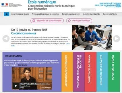 Concertation nationale sur le numérique pour l'éducation | Learning | Scoop.it