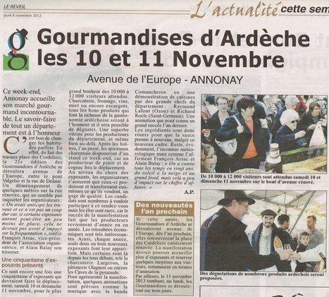 Les Gourmandises de l'Ardèche 2012   Les Toqués d'Ardeche   Restaurant Le Panoramic   Scoop.it