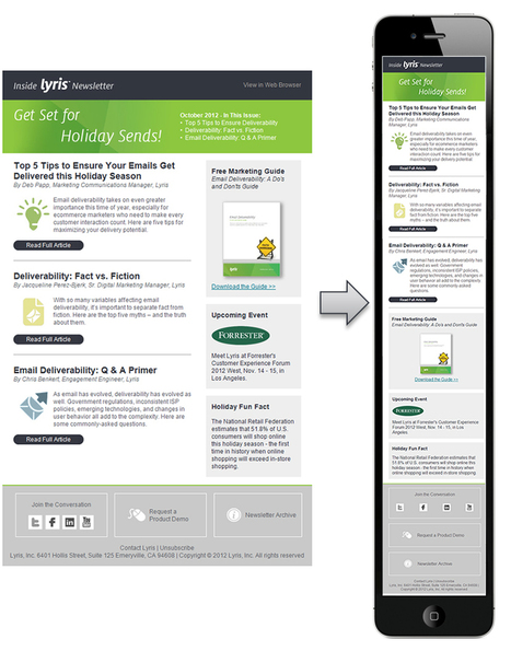 Email Inspiration: Six Great Responsive Email Designs - Lyris | Lyris | E-commerce, E-mailing, CRM and Big Datas | Scoop.it