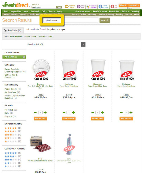 Let Down by FreshDirect's Site Search Ecommerce Outtakes | ECommerce Outtakes | Scoop.it