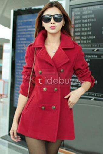 Multi- Color Lapel Thicken Middle Length Trench Coat   fashion   Scoop.it