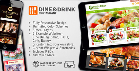 Dine & Drink - Restaurant Responsive WP Theme Download | theme | Scoop.it