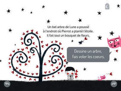 Pierrot Pierrette : une histoire toute en poésie (iPad, Android) | DeclicKids, applis enfants - catalogue critique d'applications iPad iPhone Android Web | Livres de jeunesse numériques | Scoop.it