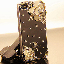 White Flower rhinestone bling iPhone5 case | Apple iPhone and iPad news | Scoop.it