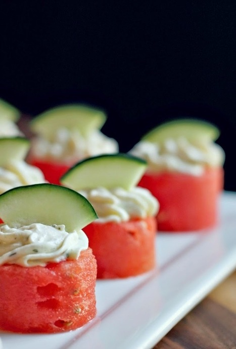 mint love social club: {watermelon goat cheese bites} | Vegetarian Food and Recipes | Scoop.it
