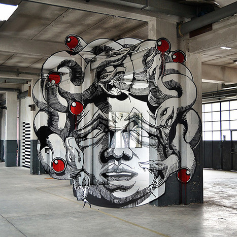 Anamorphic Medusa Inside a Factory | Bored Panda | CRAW | Scoop.it