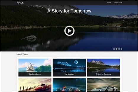 Focus - A free video WordPress Theme by SiteOrigin - WP Daily Themes | Free & Premium WordPress Themes | Scoop.it