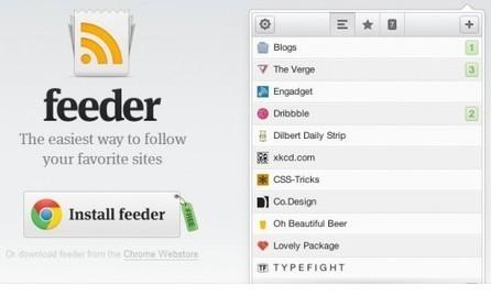 Un mini lecteur de flux RSS pour Chrome, Feeder | GTSUP - L'informatique facile | Scoop.it