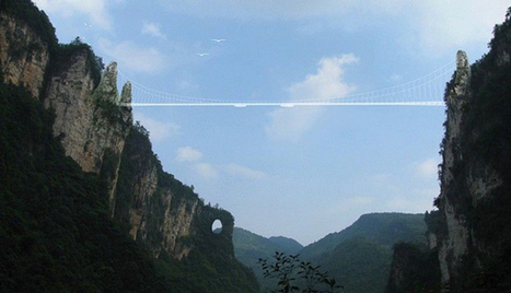 El puente de cristal más largo del mundo estará en Hunan, China   INGENIERIA CIVIL   Scoop.it