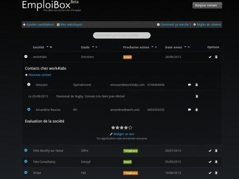 Organisez votre recherche d'emploi avec EmploiBox ! | Outils et astuces du web | Scoop.it