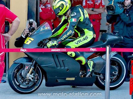 Moto GP, essais de Valencia : Rossi a roulé sur la Ducati Desmosedici - Moto Station | Pedro assistente administrativo | Scoop.it