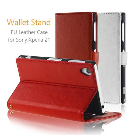 Premium Wallet Folio Sony Xperia Z1 Stand Leather Case | Sony Xperia Z1 Z2 Z1C Cover Case | Scoop.it