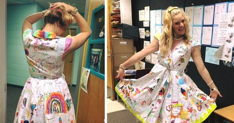 First-Grade Teacher Lets Students Draw On Her Dress For Last Day Of School | The power of Play | Scoop.it