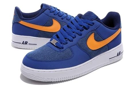 Nike Air Force 1 Mens Shoes Blue Orange | Cheap KD Shoes | Scoop.it