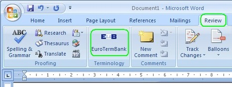 (TOOL) - EuroTermBank Terminology Add-in for Microsoft Word | eurotermbank.com | Addicted to languages | Scoop.it