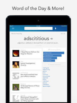 Dictionary.com Dictionary & Thesaurus For iPad Gets Updated For iOS 7 | English grammar | Scoop.it