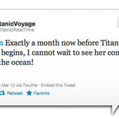 Celebrate the 100th Anniversary of the Titanic's Sinking by Reliving it Through Twitter | Strange days indeed... | Scoop.it